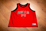 90s Chicago Bulls Logo Jersey, XL, Vintage Tank Top, NBA, Michael Jordan Era