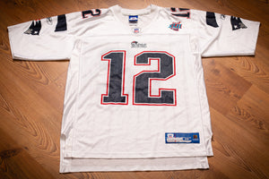 Tom Brady #12 New England Patriots Super Bowl XLII Jersey, M, Reebok