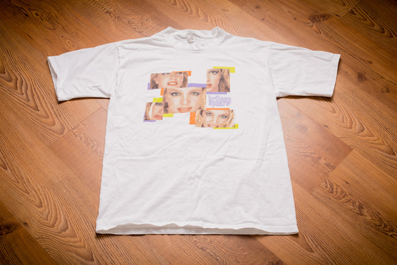 2001 Britney Spears Faces Colorblock T-Shirt, M, Graphic Tee