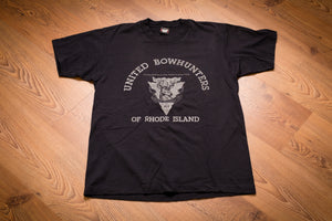 80s-90s United Bowhunters of Rhode Island T-Shirt, M, Vintage Tee, Buck Deer, Bow Hunting