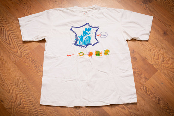 90s Nike Le Tour De France 1998 T-Shirt, M/L, Vintage Tee, Cycling Race, Swoosh
