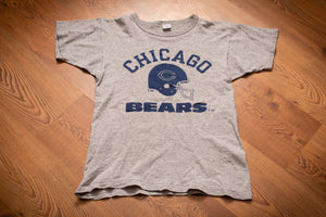 80s Chicago Bears Champion Brand T-Shirt, S, Vintage Tee, NFL Football Team