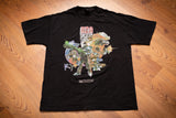 genuine black t-shirt with album artwork from wu-tang rza as bobby digital in stereo
