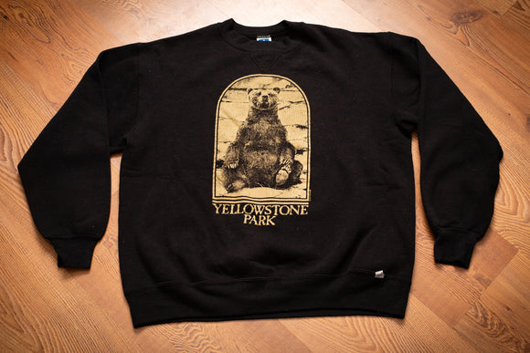 80s Yellowstone Park Bear Sweatshirt, M, Vintage Crewneck Shirt, Grizzly Animal