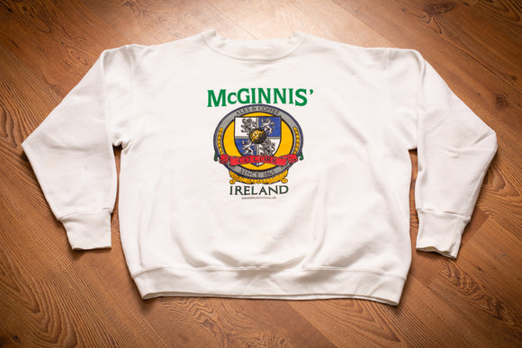 80s McGinnis' Ireland Ales and Coffees Sweatshirt, M, Crewneck Shirt, Irish Drinks