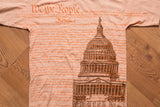 90s We The People US Constitution T-Shirt, S, Vintage Tee, Capitol Building, USA