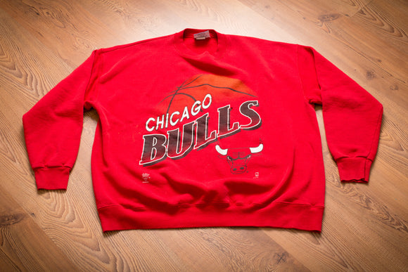 90s Chicago Bulls Sweatshirt, XL/2XL, Vintage, Michael Jordan Era, NBA Basketball