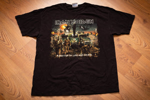 2006 Iron Maiden Matter of Life and Death T-Shirt, M/L, Heavy Metal Band Graphic Tee