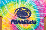 2000s Penn State Logo Tie Dye T-Shirt, M, Nittany Lions, University, Psychedelic