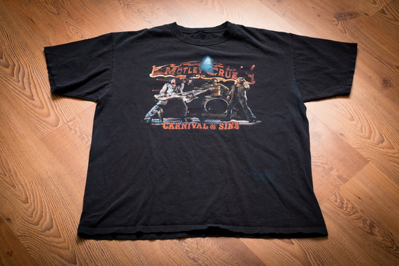 2006 Motley Crue Carnival of Sins Tour T-Shirt, XL, Heavy Metal Band Concert Tee
