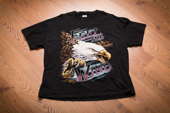 90s-Y2K Feel The Wind Eagle T-Shirt