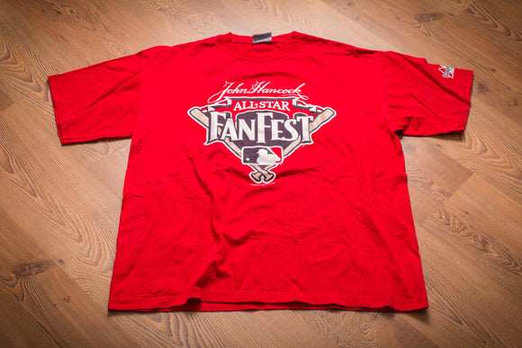 90s MLB All-Star FanFest T-Shirt, XL/2XL, Vintage Tee, Baseball Game, John Hancock