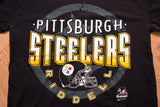 90s Pittsburgh Steelers Riddell T-Shirt, XL, Vintage Tee, NFL Football Team Logo