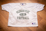 90s Michigan State Spartans Football Mesh Jersey, XL, Vintage Practice Shirt, Big 10