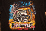 90s Tampa Bay Buccaneers Pirate Treasure T-Shirt, XL, Vintage Tee, NFL, Ship
