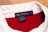 2000s Nautica Blue Water Challenge Polo Shirt, S/M, Long Sleeve, Nautical