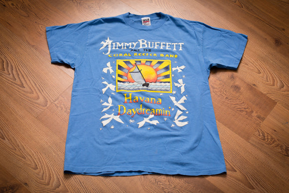 90s Jimmy Buffett Havana Daydreamin' T-Shirt, M, Vintage Tee, Coral Reefer Band, 1997 Tour