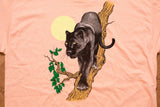 80s Black Panther T-Shirt, L, Vintage Wild Animal Tee, Nature Graphic, Harlequin