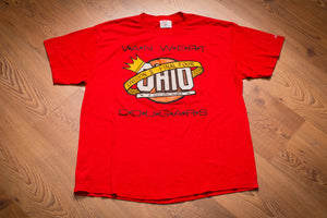90s Van Wert Cougars HS Final Four T-Shirt, L, Vintage, Ohio High School Basketball