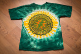 Grateful Dead T-shirt, 2008 GDP, Tie Dye, 2-Sided Graphic Tee, Shamrock Skull