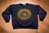 90s United States Navy Reflective Sweatshirt, XL, Vintage Crewneck Sweater, Shirt