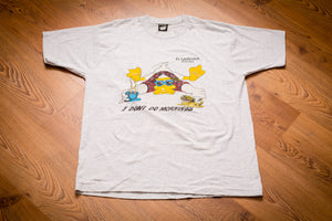 80s-90s I Don't Do Mornings Duck T-Shirt, L, Vintage Tee, Fort Lauderdale, FL