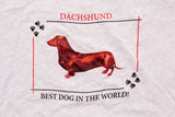 90s Dachshund Best Dog in the World T-Shirt, L, Vintage Wiener Dog Ringer Tee