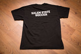 80s-90s Salem State College Vikings Soccer T-Shirt, M, Vintage Tee, University