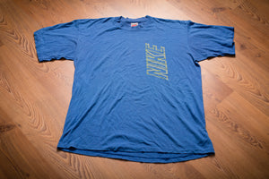 80s-90s NIKE Spell Out T-Shirt, XL, Vintage Tee, Blue