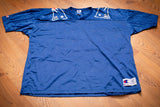 vintage 90s blue mesh new england patriots champion brand jersey with no number