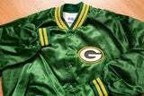 80s-90s Green Bay Packers Nylon Jacket, M/L, Vintage NFL Outerwear