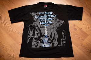 90s Yoda Star Wars Quote T-Shirt, M, Vintage 1990s, You Must Unlearn What You Have Learned