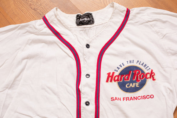 90s Hard Rock Cafe San Francisco Baseball Jersey, XL, Vintage, California