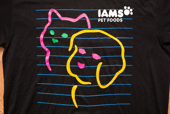 80s-90s Iams Pet Foods T-Shirt, M, Vintage 1980s-1990s, Dog & Cat Graphic Tee