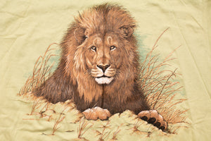 90s Lion Graphic T-Shirt, XL, Vintage 1990s, Wild Animal, Wildlife