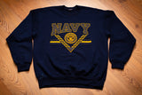 90s US Navy Reflective Spellout Sweatshirt, L, Vintage Shirt, United States Military