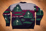 90s Grand Slam Golf All Over Sweater, L, Vintage Crewneck Shirt, Munsingwear