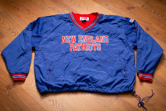 90s New England Patriots Pullover Jacket, XXL, Vintage Outerwear