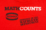 80s MathCounts Mathletic Department T-Shirt, L, Mathematics Teacher, Math