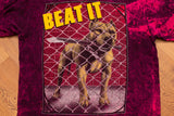 90s Pit Bull Beat It T-Shirt, S/M, Hawaii Master Graphics, Vintage Tee, Bad Attitude