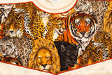 90s Wild Cats T-Shirt, M/L, Vintage Tee, Lion Tiger Panther Cheetah Leopard