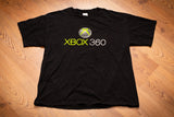 black t-shirt with classic xbox 360 logo