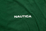 90s Nautica Compass Graphic Tee, XL, Vintage Tee, Green, Nautical Boating