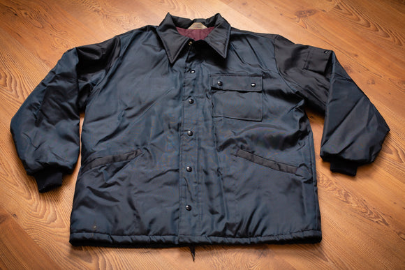 vintage 60s dark navy blue coat from champion spark plugs
