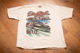 90s Dale Earnhardt NASCAR T-Shirt, L/XL, Vintage 2-Sided Tee, You Have To Earn It