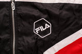 90s FILA Calcio Italia Jacket, M/L, Vintage, Hip Hop Streetwear, Hexagonal Color Block