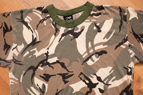 90s Rothco Snow Camouflage T-Shirt, M, Vintage Tee, Skater, Military, Punk