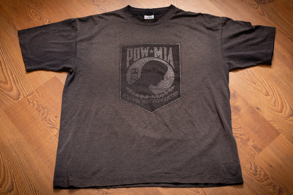 80s-90s POW MIA You Are Not Forgotten T-Shirt, L, Vintage, Military War Veteran