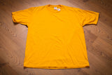 90s NOS Jerzees Blank Yellow T-Shirt, XL, Vintage Tee, Plain, NWT