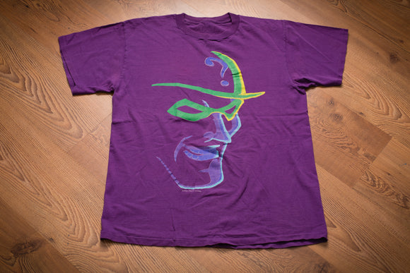 90s The Riddler Batman Villain T-Shirt, DC Comics Movie, Jim Carrey